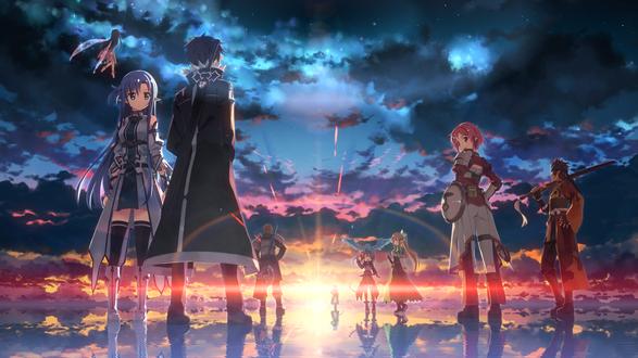 Обои Персонажи аниме Мастера Меча Онлайн II / Sword Art Online II, автор Yuuki Tatsuya