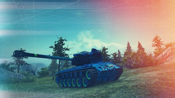 Обои T26E4 SuperPershing из игры World of Tanks / Мир танков