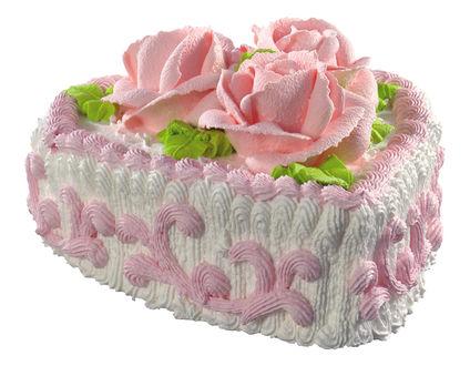 Обои Кремовый торт с розами