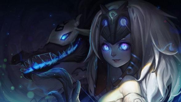 Обои Вечные охотники Киндред / Kindred the Eternal Hunters из игры Лига Легенд / League of Legends / LOL, автор SongJiKyo