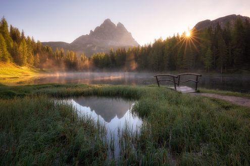 Обои Тихое утро на озере, фотограф Daniel F