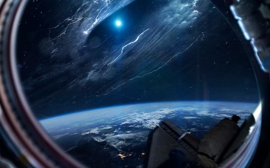 Обои Вид на космос с космической станции, фотограф Vadim Sadovski