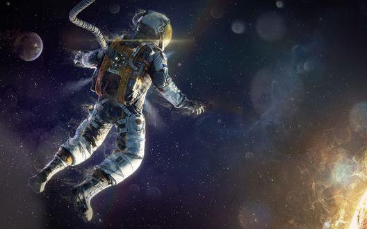 Обои Астронавт в космосе