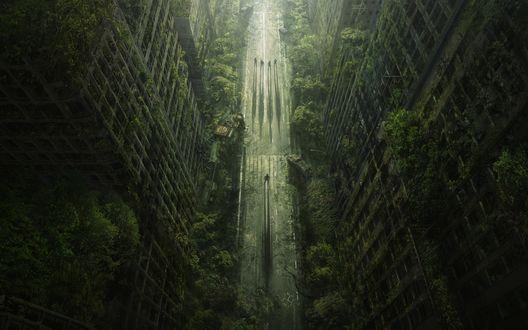 Обои Город после апокалипсиса, игра Wasteland 2 / Пустошь 2