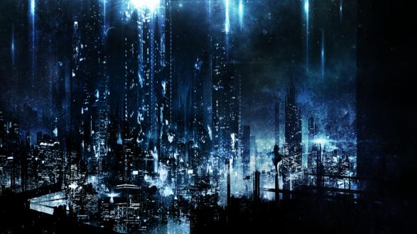 Обои Ночной город, автор c. c. r