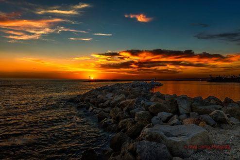 Обои Закат на побережье Southern California / Южной Калифорнии, фотограф Johnny Santiago