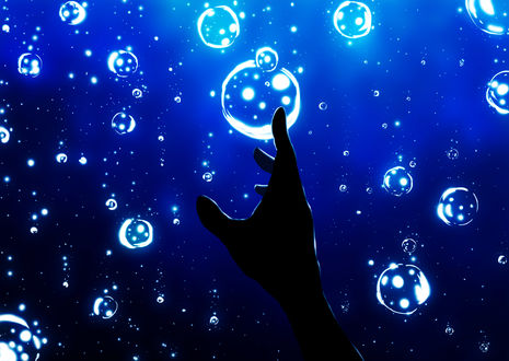 Обои Рука человека под водой, by Harada Miyuki