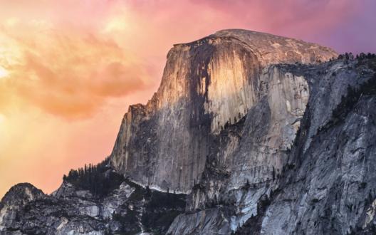 Обои Скала на фоне вечернего неба