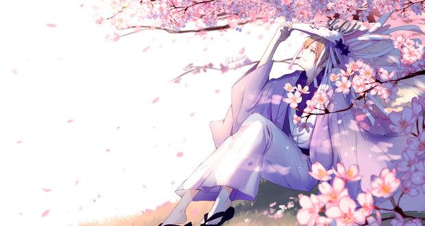 Обои Такаши Нацумэ / Takashi Natsume из аниме Тетрадь дружбы Нацумэ / Natsume Yuujinchou, автор Lluluchwan