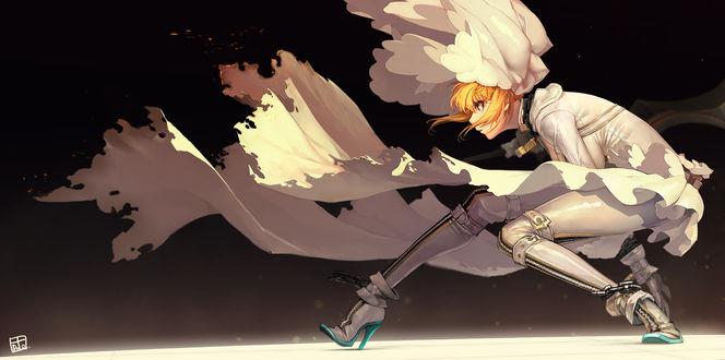 Обои Сэйбер / Saber из аниме Судьба / Ночь схватки / Fate / stay night, автор DuTO