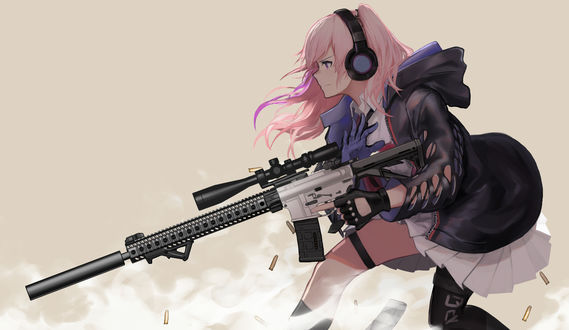 Обои St ar-15 из игры Girls Frontline, автор Wu Lun Wujin