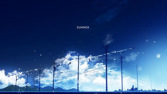 Обои Самолет в облачном небе, by Y_Y (SUMMER / ЛЕТО)