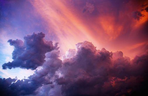 Обои Вечернее небо в облаках