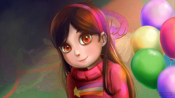 Обои Mabel Pines / Мэйбл Пайнс из мультсериала Gravity Falls / Гравити Фолз, by JaezX