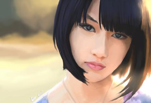 Обои Темноволосая девушка азиатской внешности, by Rosuke97