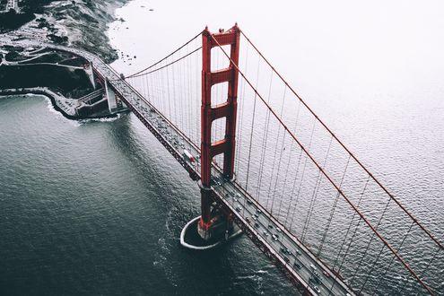 Обои Мост Золотые ворота / Golden Gate Bridge в Сан-Франциско / San Francisco, США / USA