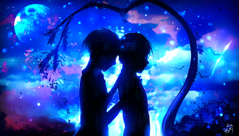 Картинки красивая ночь для двоих