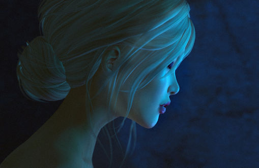 Обои Портрет девушки в профиль, by Lucy Diamond