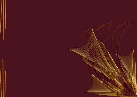Обои Красно-золотой узор в виде цветка на красном фоне