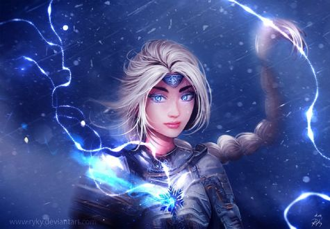 Обои Elsa the Warrior / Эльза Воин, by ryky