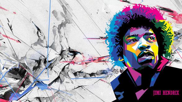Обои Джими Хендрикс / Jimi Hendrix в векторном изображении