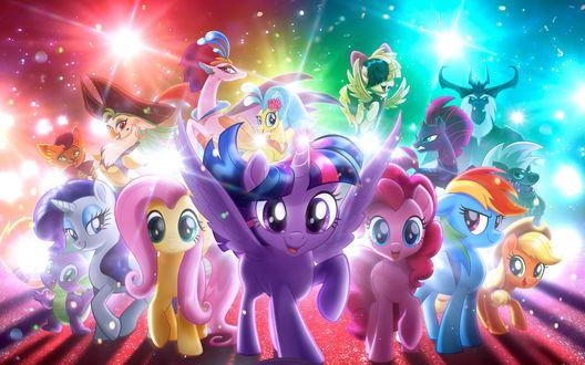 Обои Герои мультфильма Мой маленький пони / My Little Pony: The Movie