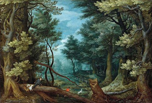Обои Пейзаж фламандского художника Яна Брейгеля Старшего