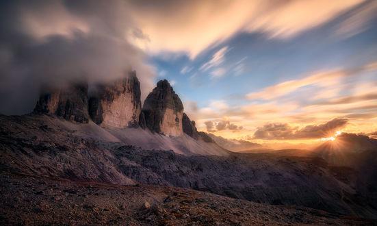 Обои Горы в облаках, фотограф Daniel F