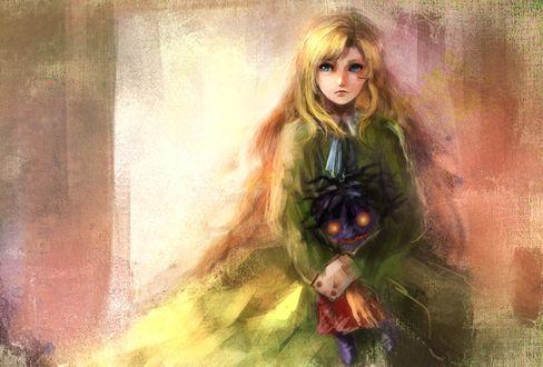 Обои Мэри / Mary с Синей Куклой / Blue Doll из игры Иб / Ib, by Pixiv Id 3879166