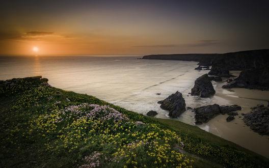 Обои Работа Bedruthan Sunset / Бедруганский закат от фотографа Andi Campbell-Jones
