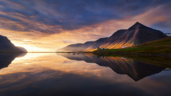 Обои Горы на рассвете, фотограф Dylan Toh & Marianne