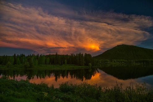 Обои Grand Teton National Park / Национальный парк Гранд-Титон, фотограф Jon Albert