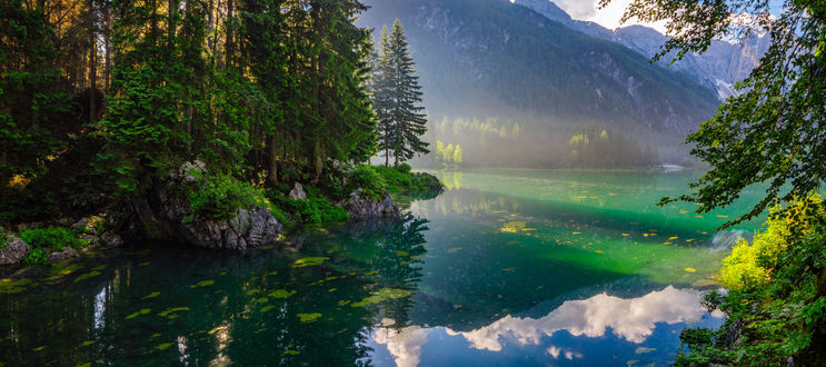 Обои Озеро в лесу. Фотограф Mariuszbrcz - Mike Mareen