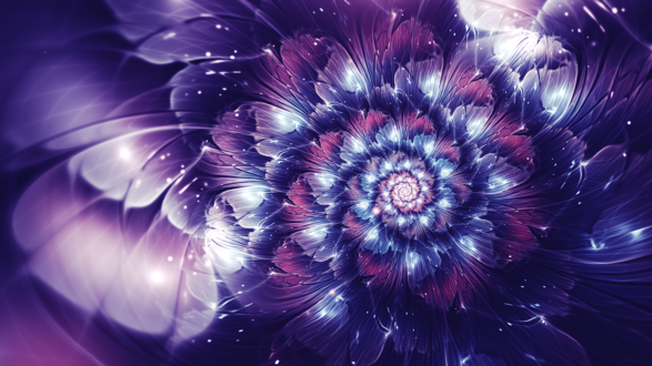 Обои Красивая абстракция в виде цветка