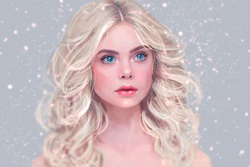 Обои Портрет белокурой Abigail Hawk / Эбигейл Хоук