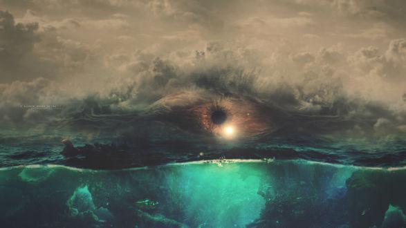 Обои Глаз в небе над водой, by GumeNiii
