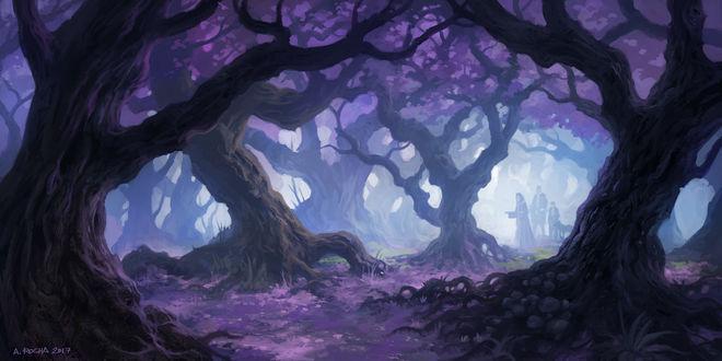 Обои Таинственный сказочный лес, by Andreas Rocha
