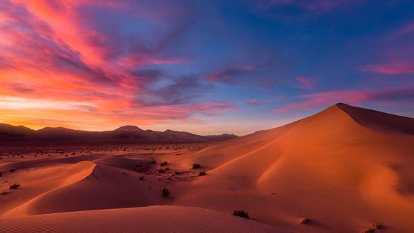 Обои Пустыня под вечерним небом