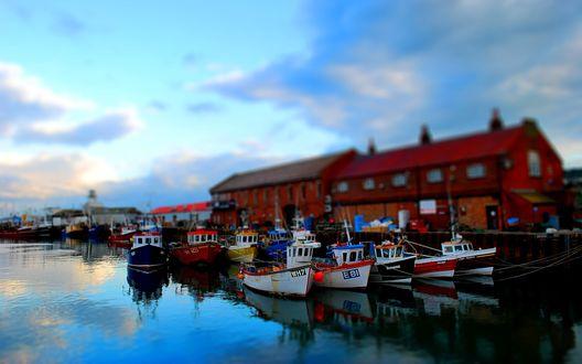 Обои Пристань для кораблей на Лофотенских островах, Норвегия