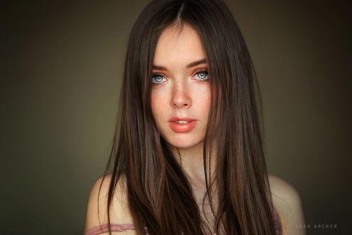 Обои Модель Мария с серыми глазами, фотограф Sean Archer