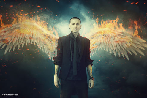 Обои Chester Bennington / Честер Беннингтон-американский рок-музыкант, вокалист групп Linkin Park / Линкин Парк и Dead by Sunrise / Мертвые от восхода солнца, by anupamyakuza