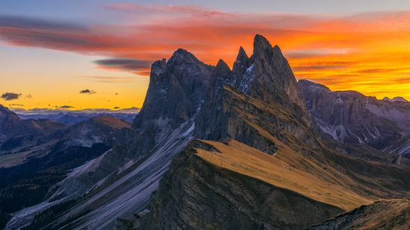 Обои Восход солнца в горах, фотограф Rossano Ferrari