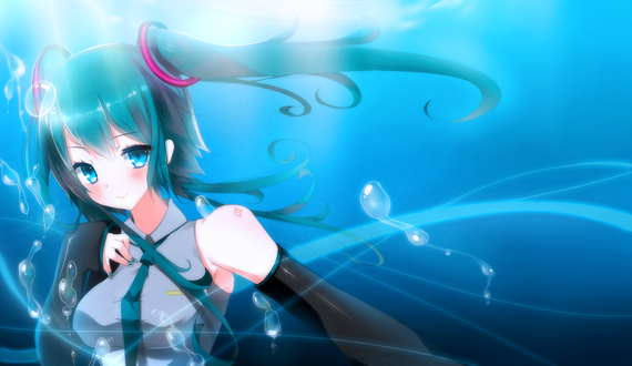 Обои Vocaloid Hatsune Miku / Вокалоид Хатсуне Мику, by AoiKen