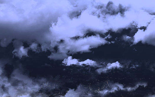 Обои для рабочего стола Облака в ночном небе над городом, by saya (© chucha),Добавлено: 31.07.2017 00:02:14