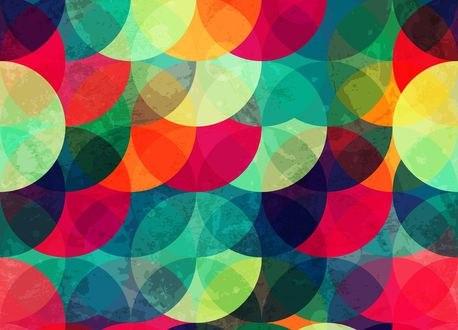 Обои Фон из разноцветных кружочков