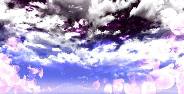 Обои Блики в облачном небе, by saya