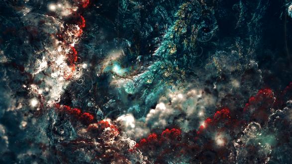 Обои Nebula in the sea / Туманность в море, by Esherymack