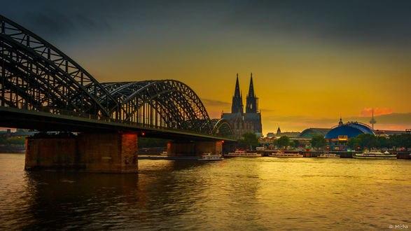 Обои Мост к Кельнскому собору, Германия / Germany, фотограф Mike