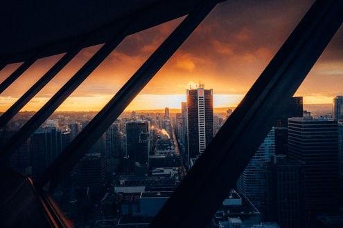 Обои Вид на город на закате, фотограф Tony Andreas Rudolph