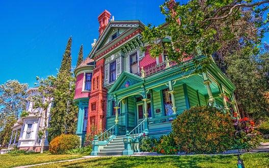 Обои Винтажный дом в штате Калифорния / California, США / USA